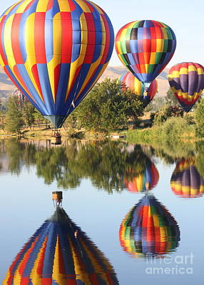 Photograph - Colorful Balloons Reflection by Carol Groenen