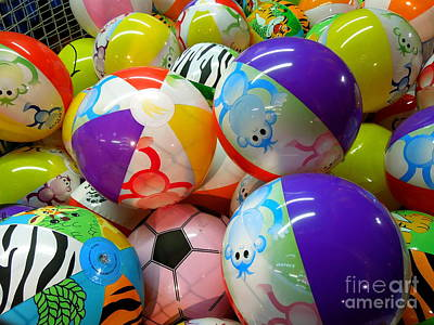 Art Print featuring the photograph Colorful Balls by Renee Trenholm
