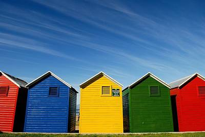 Colorful Beach House Art Print