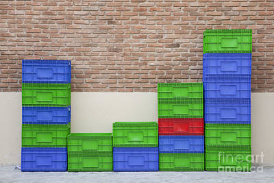 Colorful Beer Crates Art Print by Chavalit Kamolthamanon