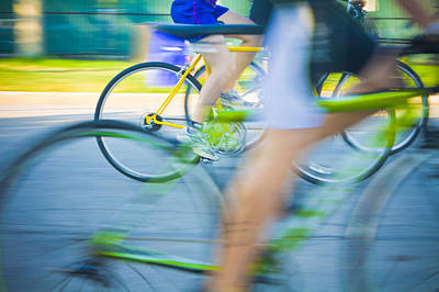 Triathalon Photograph - Colorful Bike Race by Anthony Doudt
