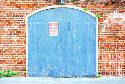 Photograph - Colorful Blue Garage Door French Quarter New Orleans Accented Edges Digital Art by Shawn O'Brien