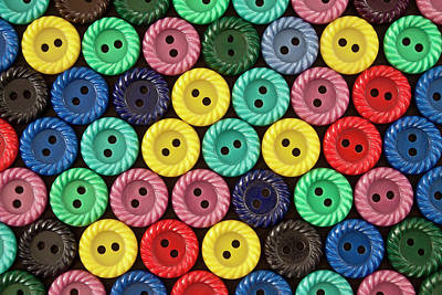 Photograph - Colorful Buttons by Jeff Suhanick