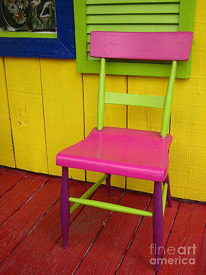 Still Life Photograph - Colorful Chair by Judee Stalmack