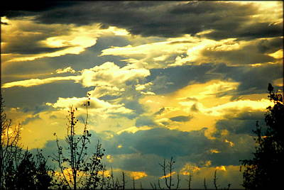 Photograph - Colorful Clouds by Kathy Sampson