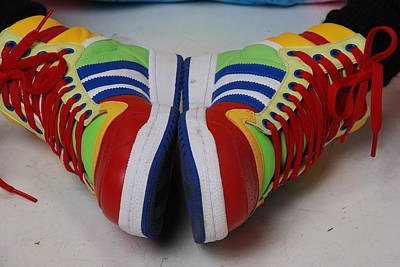 Photograph - Colorful Clown Shoes by Richard Bryce and Family