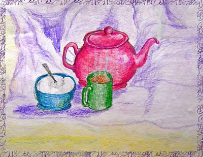 Colorful Coffee Art Print by Debbie Portwood
