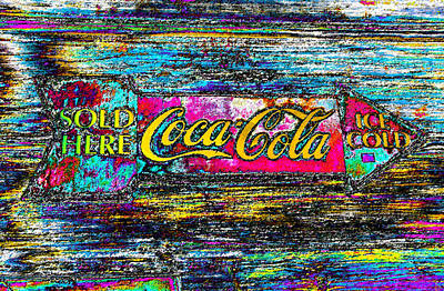 Coca-cola Signs Digital Art - Colorful Coke by David Lee Thompson