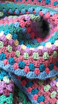 Colorful Crochet Art Print by Emma Manners
