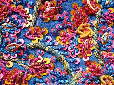 Embroidery Photograph - Colorful Embroidery by Sumit Mehndiratta