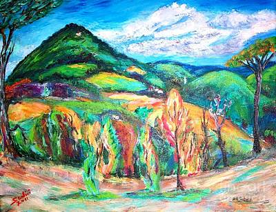 Painting - Colorful Europe  by Mary Sedici