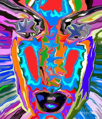 Female Mixed Media - Colorful Face by Chris Butler