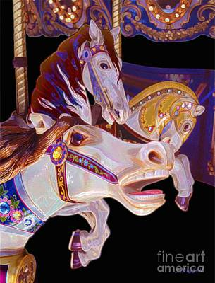 Photograph - colorful fantasy ponies - My Dream of Horses by Sharon Hudson