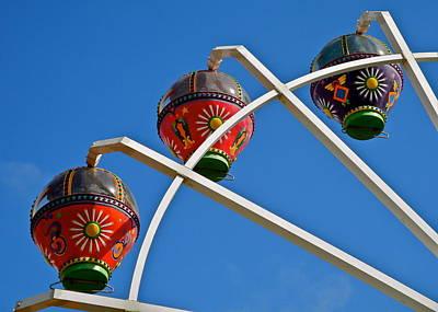 Colorful Ferris Wheel In Glenelg Art Print by Kirsten Giving