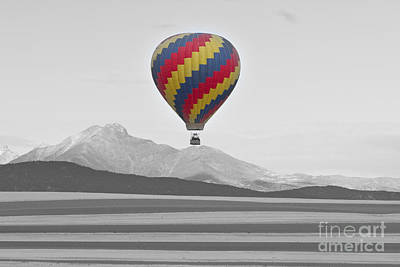 Photograph - Colorful Hot Air Balloon And Longs Peak by James BO  Insogna