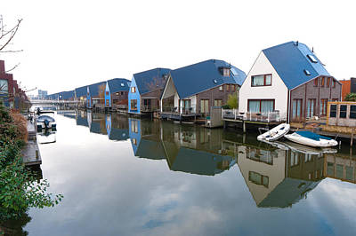 Almere Photograph - Colorful Houses  by Hans Engbers