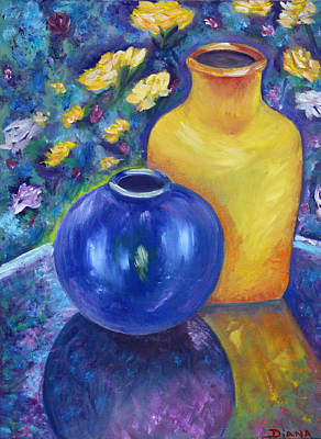 Painting - Colorful Jars by Diana Haronis