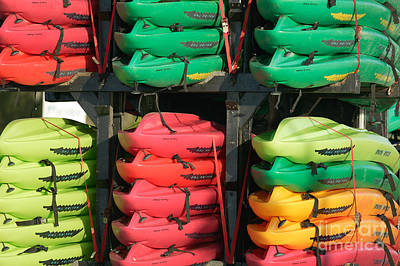 Photograph - Colorful Kayaks by Clarence Holmes