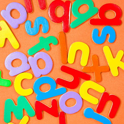 Messy Photograph - Colorful Letters by Tom Gowanlock