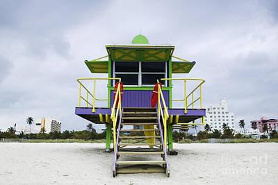Colorful Lifeguard Station Print by Jeremy Woodhouse