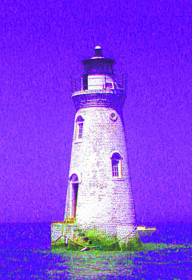 Colorful Lighthouse Art Print by Juliana  Blessington