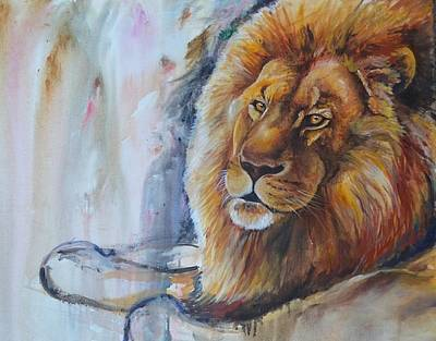 Painting - Colorful Lion by Paige Hval