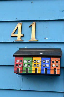 Colorful Mail Box In St. John Newfoundland Art Print