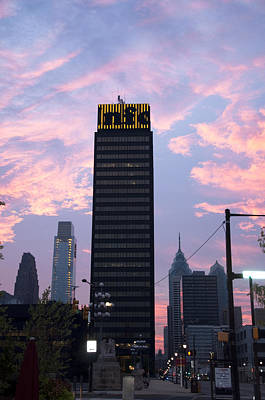 Phillies Photograph - Colorful Morning Sky In Philly by Bill Cannon