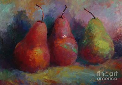 Colorful Pears Art Print by Sandra Leinonen Dunn