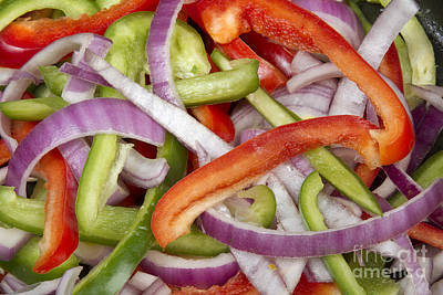Photograph - Colorful Peppers And Onions by James BO Insogna