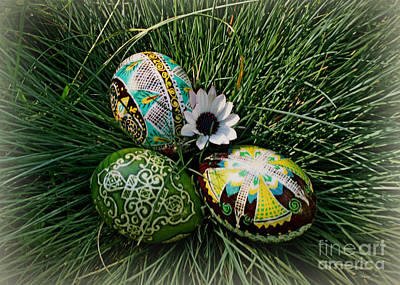 Photograph - Colorful Pysanky by Danuta Bennett