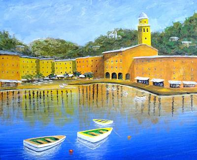 Portofino Italy Painting - Colorful Reflections Of Portofino by Larry Cirigliano