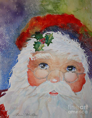 Colorful Santa Art Print by Terri Maddin-Miller