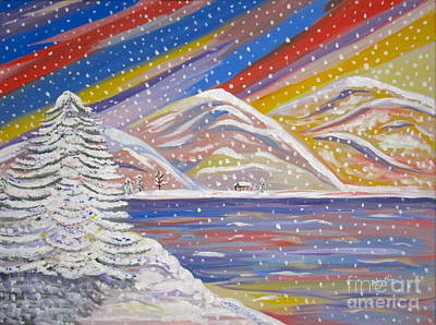 Painting - Colorful Snow by Phyllis Kaltenbach