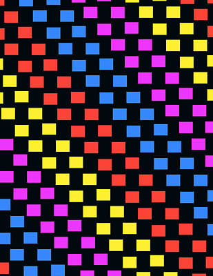 Repeat Digital Art - Colorful Squares by Louisa Knight