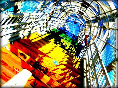 Colorful Steps Art Print by D Wash
