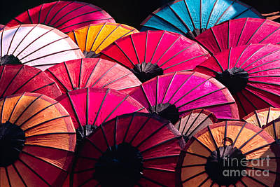 Art Print featuring the photograph Colorful Umbrella by Luciano Mortula