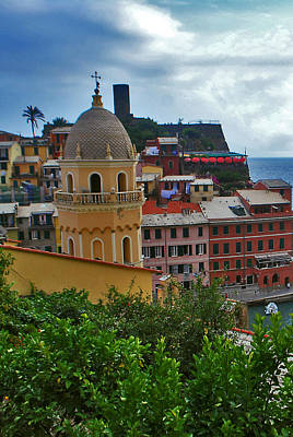 Colorful Village Of Vernazza Located In Cinque Terre Liguria Italy Art Print by Jeff Rose