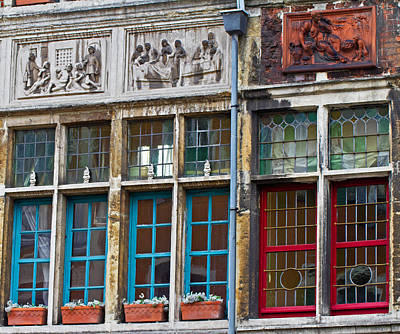 Photograph - Colorful Windows by David Freuthal