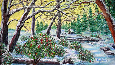 Painting - Colorful Winter Garden by Lee Nixon