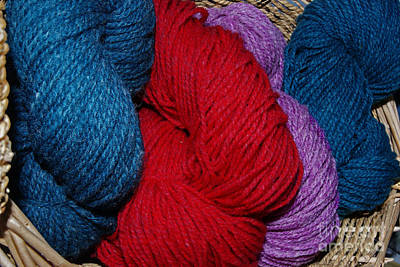 Photograph - Colorful Yarn by Margie Avellino