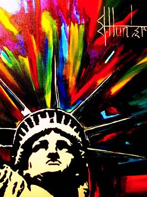 Ellis Island Painting - Colors Of Liberty by Jeff Hunter
