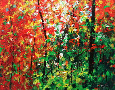 Maple Season Painting - Colors Of October by Kume Bryant