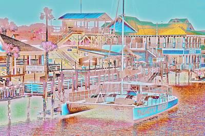 Colors Of Shem Creek Sc Art Print