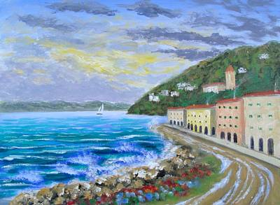 Portofino Italy Painting - Colors Of The Riviera by Larry Cirigliano
