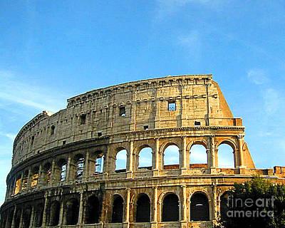 Photograph - Coloseum Rome Italy by Merton Allen
