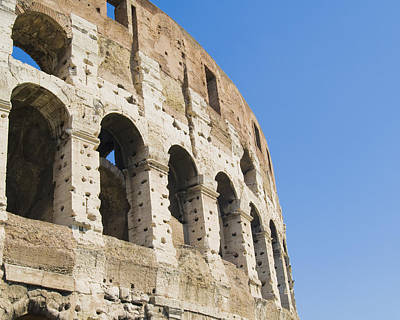 Ancient Civilization Photograph - Colosseum Detail by John Harper