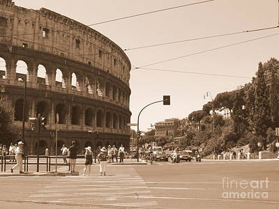Photograph - Colosseum In Sepia by Laurel Best
