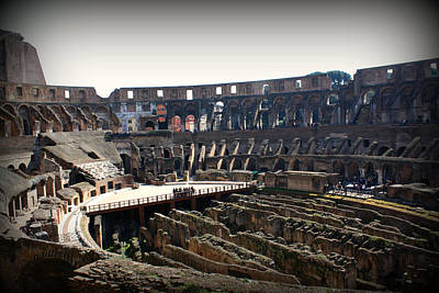 Italy Photograph - Colosseum Interior  by Kevin Flynn