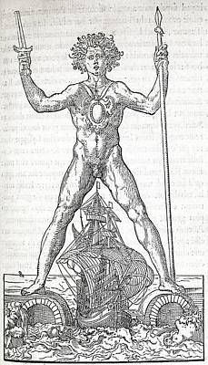 Helios Photograph - Colossus Of Rhodes, 16th Century Artwork by Middle Temple Library